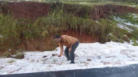 Il a neigé sur Antanifotsy !